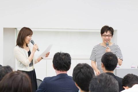 東京ソーシャルシフトの会 斉藤さんの登壇風景