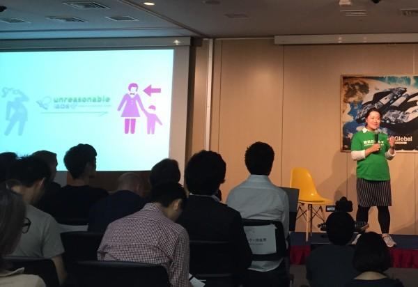 「Unreasonable Lab Japan」のプログラムで新たな課題を発見し、早速プロトタイピングを進めている防災ガール代表の田中美咲さん