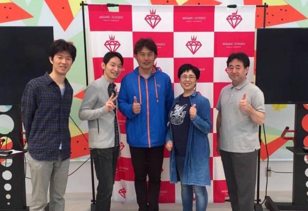 GRAが運営する「ICHIGO WORLD(イチゴワールド)」で福島さんとSVP東京の集合写真