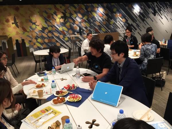 ボランティアとして参加したTwitter Japanの社員さんとの座談会