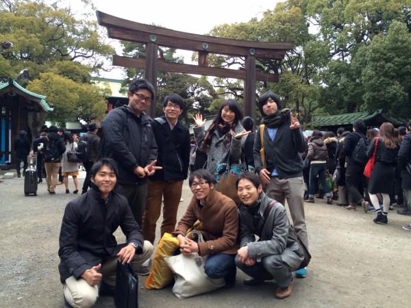 WebマーケチームのMTG後にみんなで明治神宮に初詣にも行きました