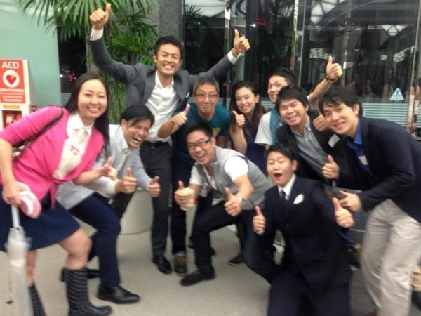 投資・協働先9団体の代表の皆さんと、SVP東京・代表の岡本拓也さん